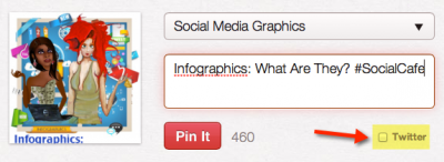 Old Pinterest with Twitter Checkbox