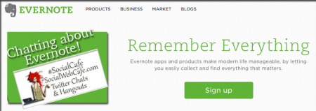 Tools 6 * Evernote w/ %40SocialWebCafe http://sw.bcafe.co/9Y (Summary) %23SocialCafe %23TBW