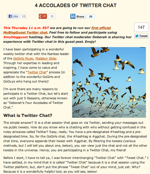 4 Accolades of Twitter Chat (SEOSmarty.com) post image